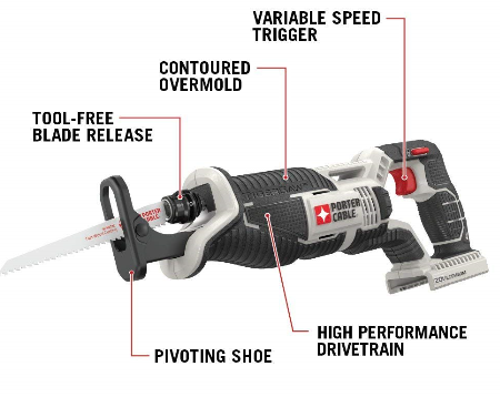 PORTER CABLE PCC670B Reciprocating Tigersaw Review
